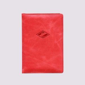 Кожаный ежедневник в красном цвете с символикой Спартака