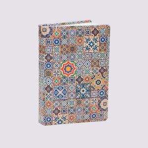 Кожаный разноцветный ежедневник