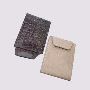 Еженедельник кожаный с застежкой карманный датированный