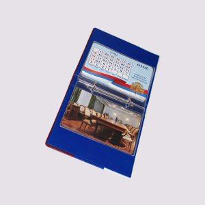 Фотоальбом из кожи с календарем и символикой РФ внутри
