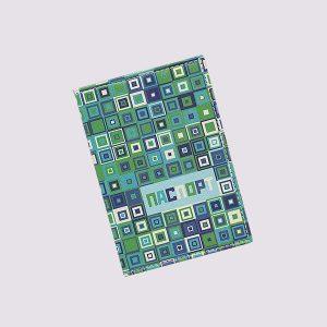 Обложка для паспорта из кожи в синих тонах