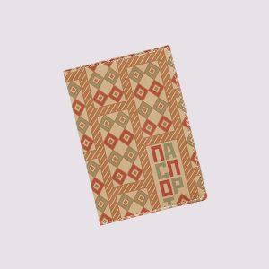 Обложка для паспорта из кожи с ромбиками