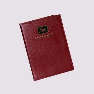Адресная папка в красном цвете с логотипом