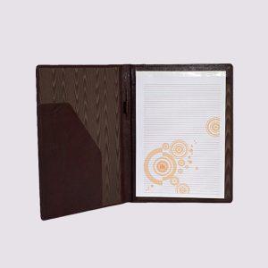 Кожаные папки для бизнес-блокнотов в бордовом цвете