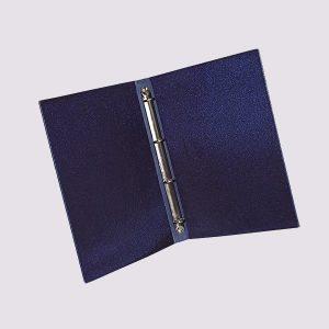 Кожаная папка на кольцах в синем цвете