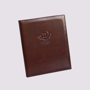 Кожаная папка на кольцах с логотипом Бекон