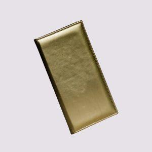 Папка в ресторан в золотом цвете глянцевая