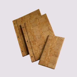 Папки в ресторан в древесном стиле