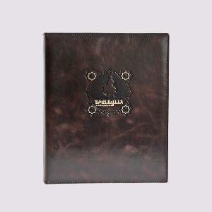 Папка в ресторан в темно коричневом стиле