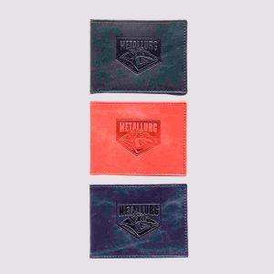 Кожаная обложка для студенческого билета с логотипом Metallurg