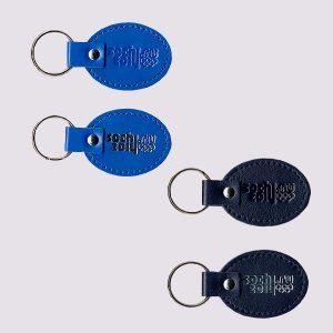 Кожаные брелки с логотипом Сочи 2014 в синих цветах