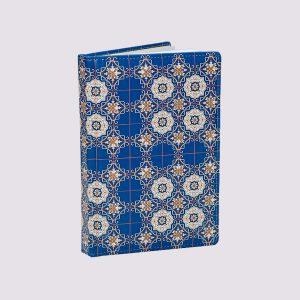 Кожаный ежедневник в синем цвете с узорами