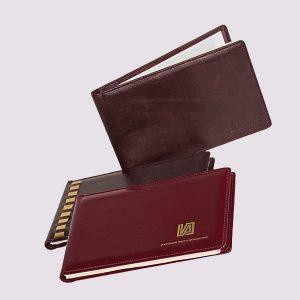 Еженедельник кожаный карманный датированный
