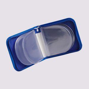 Футляр для CD дисков с силиконовыми вставками в синем цвете
