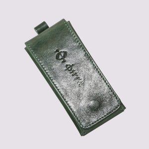Ключница из кожи в зеленом цвете