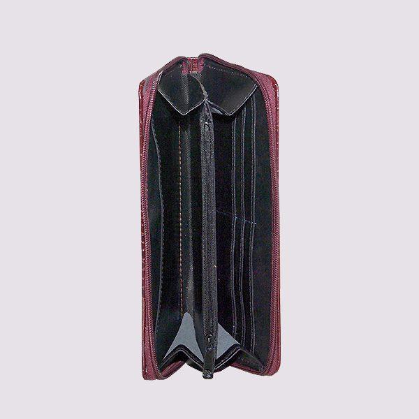 Кожаный кошелек с молнией