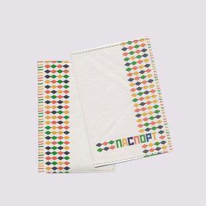 Обложка для паспорта из кожи с ярким принтом