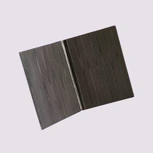 Адресная папка в черном цвете древесный стиль