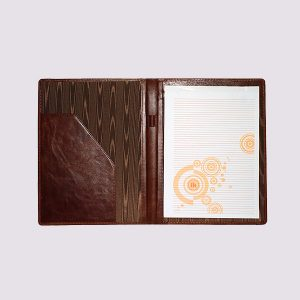 Кожаные папки для бизнес-блокнотов в коричневом цвете