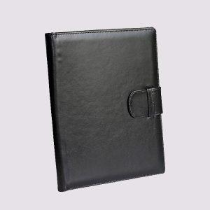 Кожаные папки для бизнес-блокнотов в черном цвете