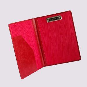 Кожаные папки для бизнес-блокнотовв в красном цвете