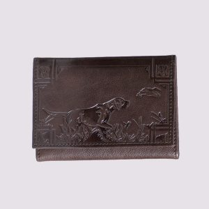 Кожаное портмоне с охотничьей тематикой