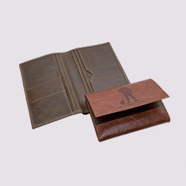 Кожаное портмоне в коричневом цвете