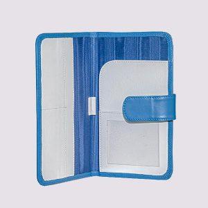 Кожаное тревел-портмоне в синем цвете